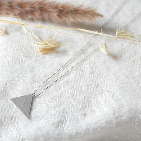 Irregular Triangle Necklace