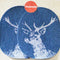 Deer Silkscreen Print Jeans Patches Larges