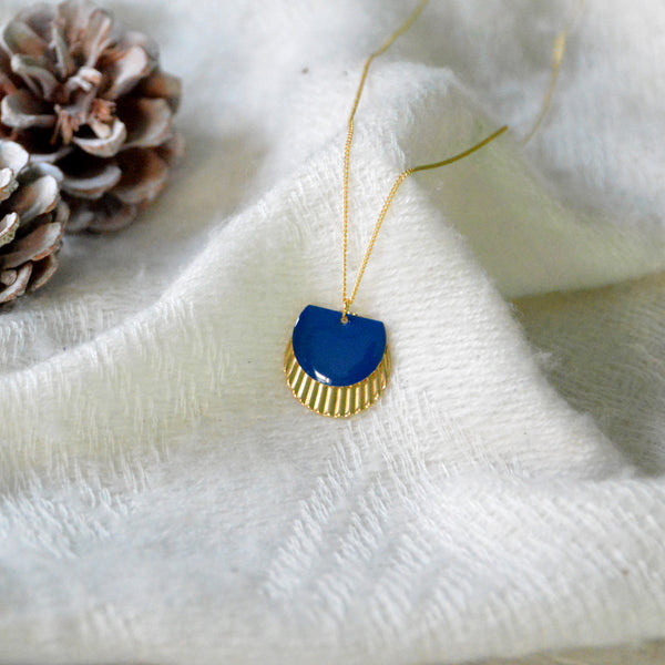 Enamelled Brass Necklace