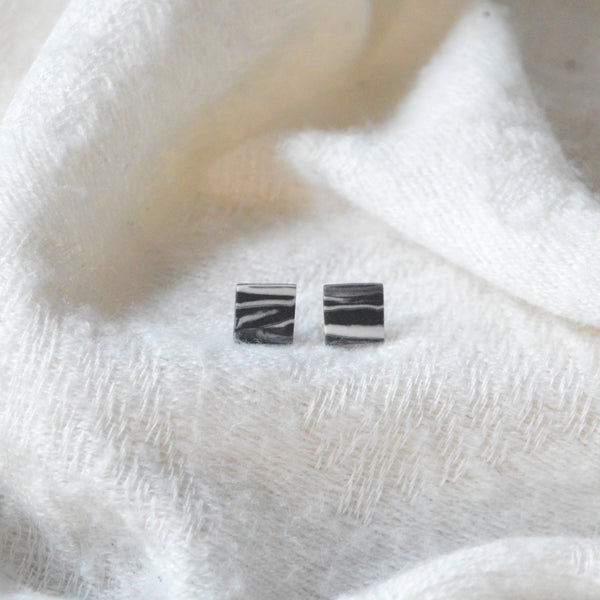 Marble Porcelain Square Earrings