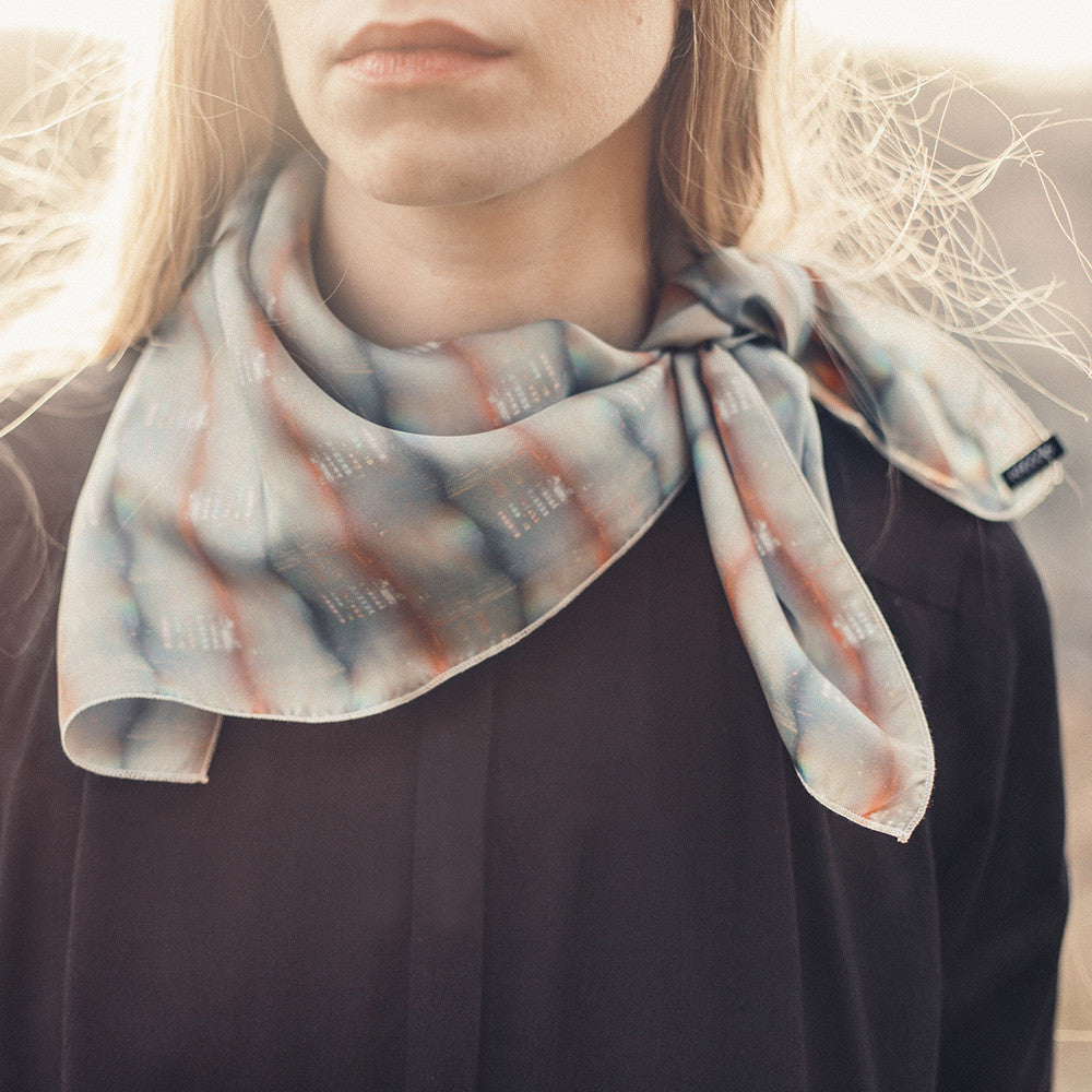 Short Silk Scarf