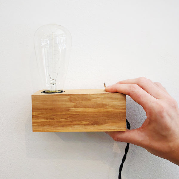 Rectangle Wooden Lamp