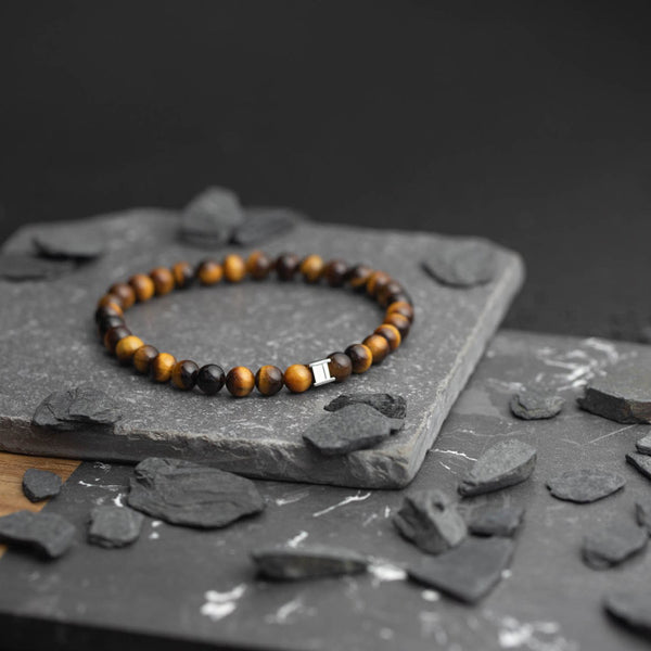 Gem Tiger Eye 6mm Stones Bracelet