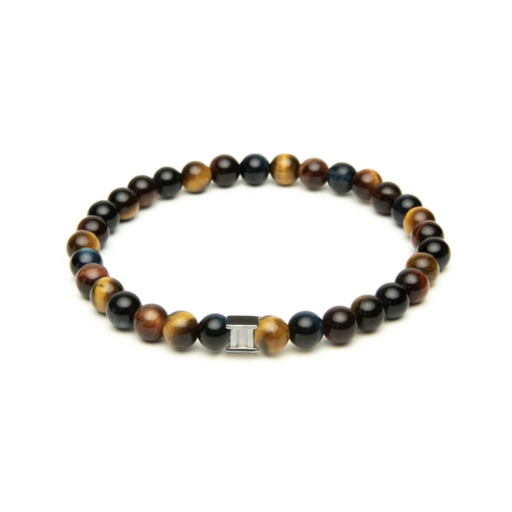 Gem Three Colours 6mm Stones Bracelet