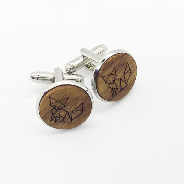 Fox Wood Cufflinks