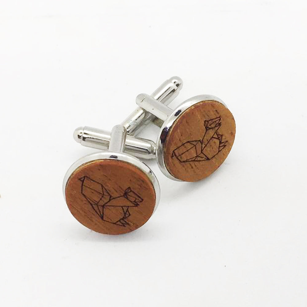 Squirrel Wood Cufflinks