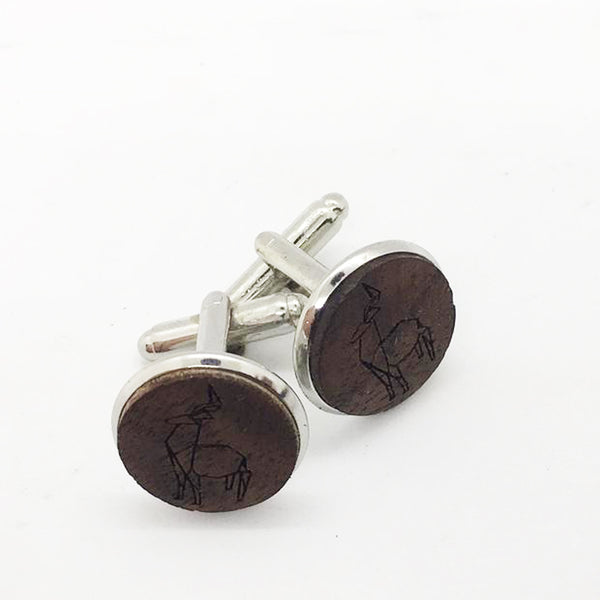 Deer Wood Cufflinks