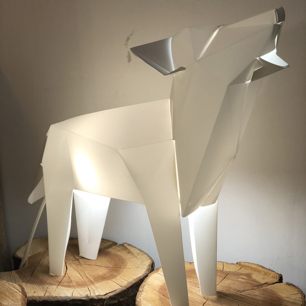 Wolf Origami Lamp