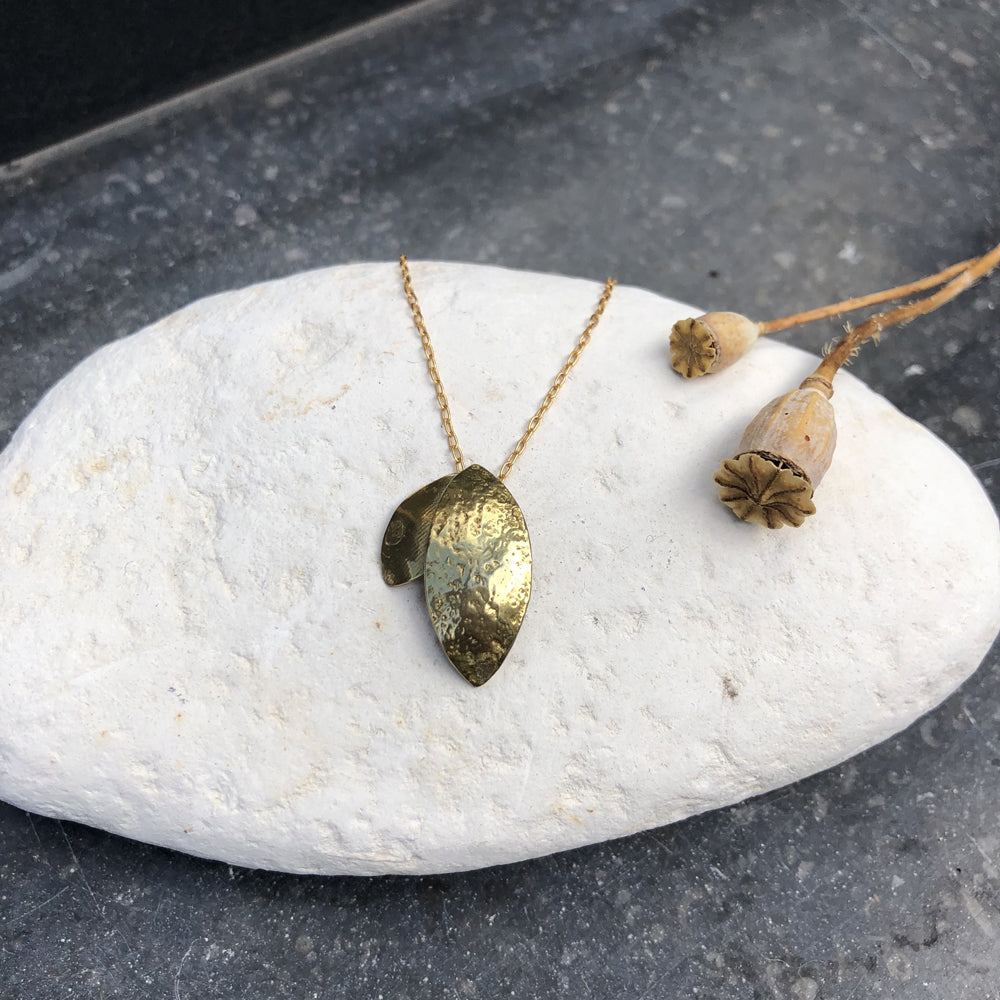 Leaf Brass Necklace