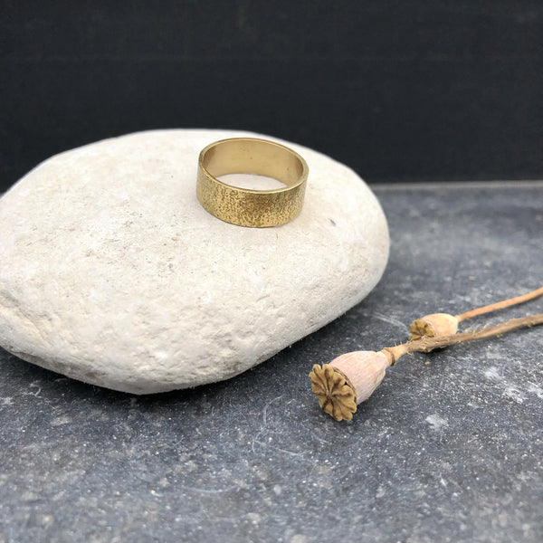 Large Textured Brass Ring