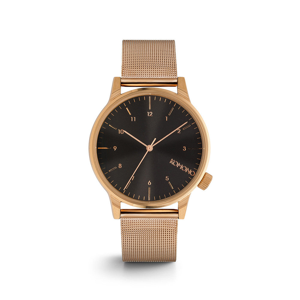 Winston Royale Rose Gold Black Watch