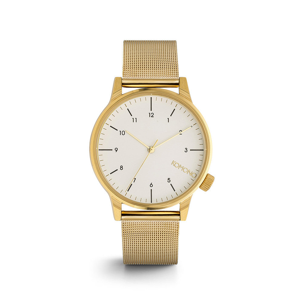Winston Royale Gold White Watch