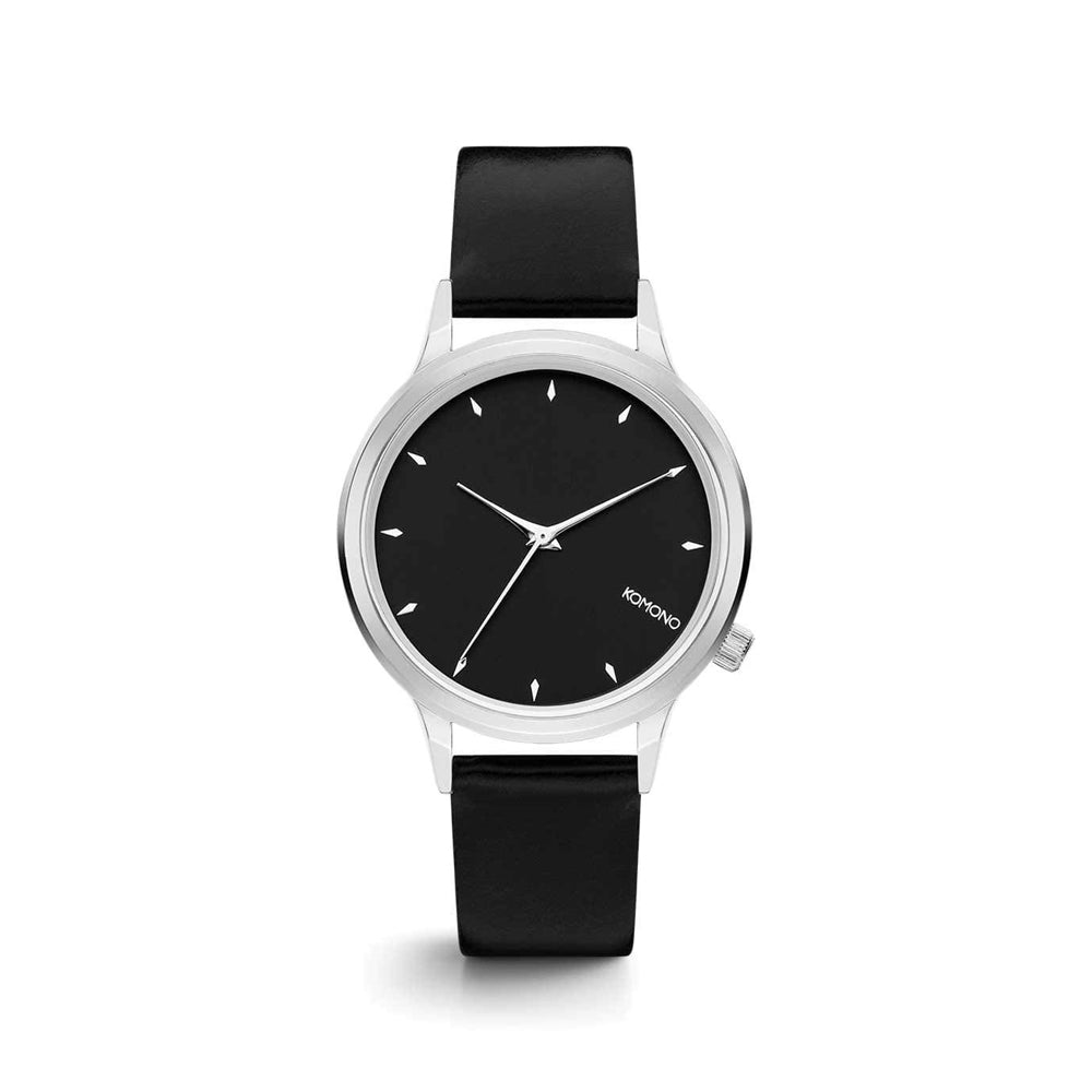 Lexi Black Silver Watch