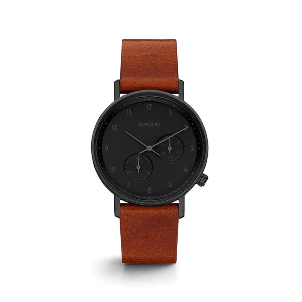 The Walther Black Cognac Watch