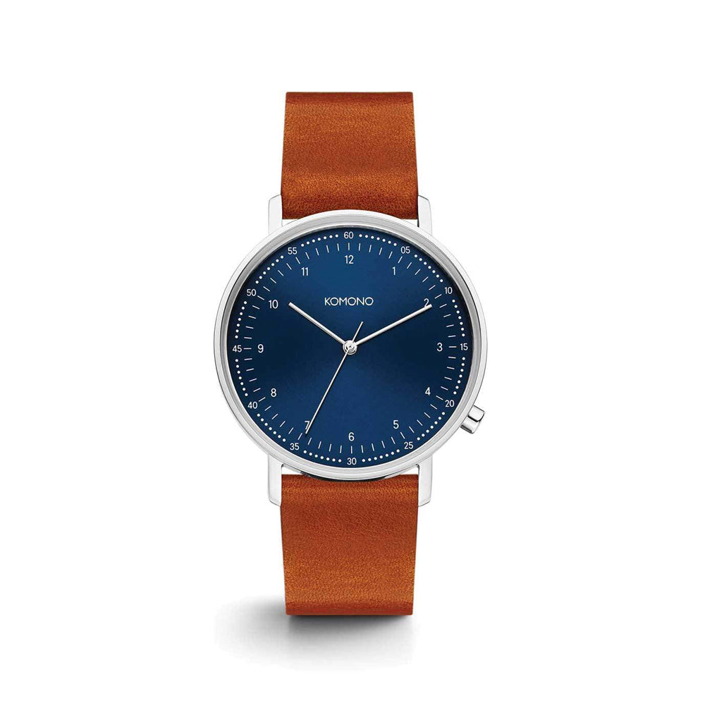 The Lewis Blue Cognac Watch