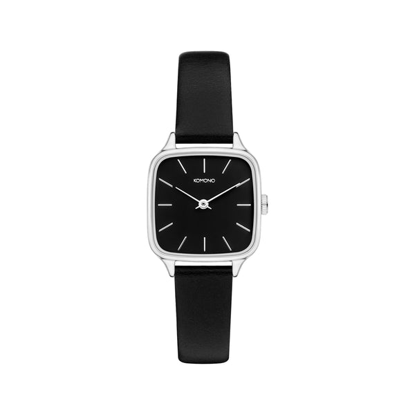Kate Black Silver Watch