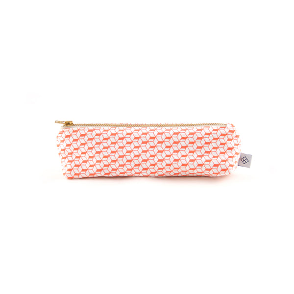 White & Corail Pencil Case