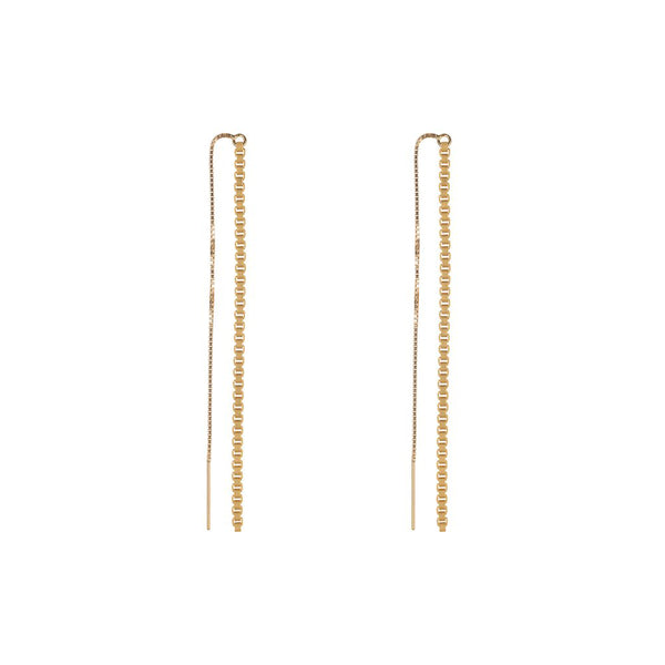Box Chain Long Earrings