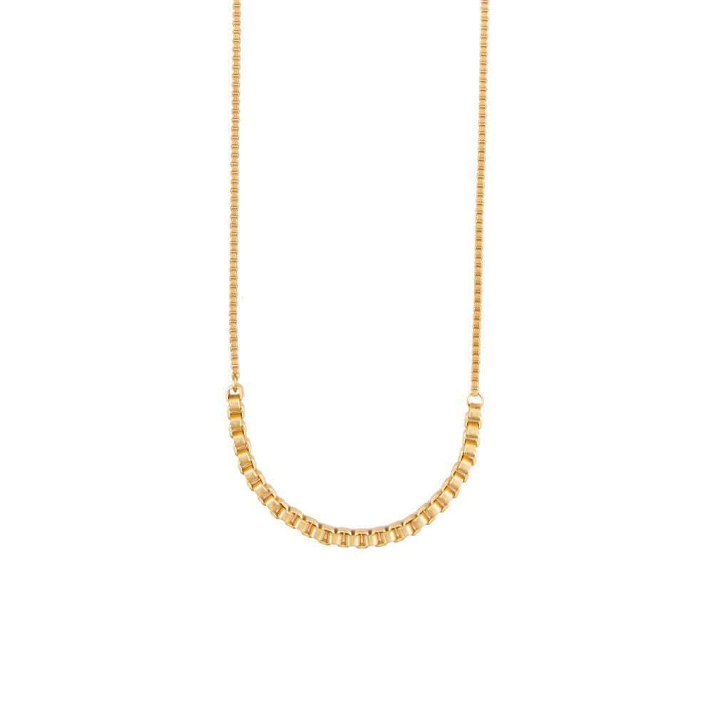 Box Chain Long Necklace