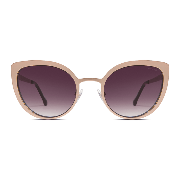Logan Rose Gold Matte Sunglasses