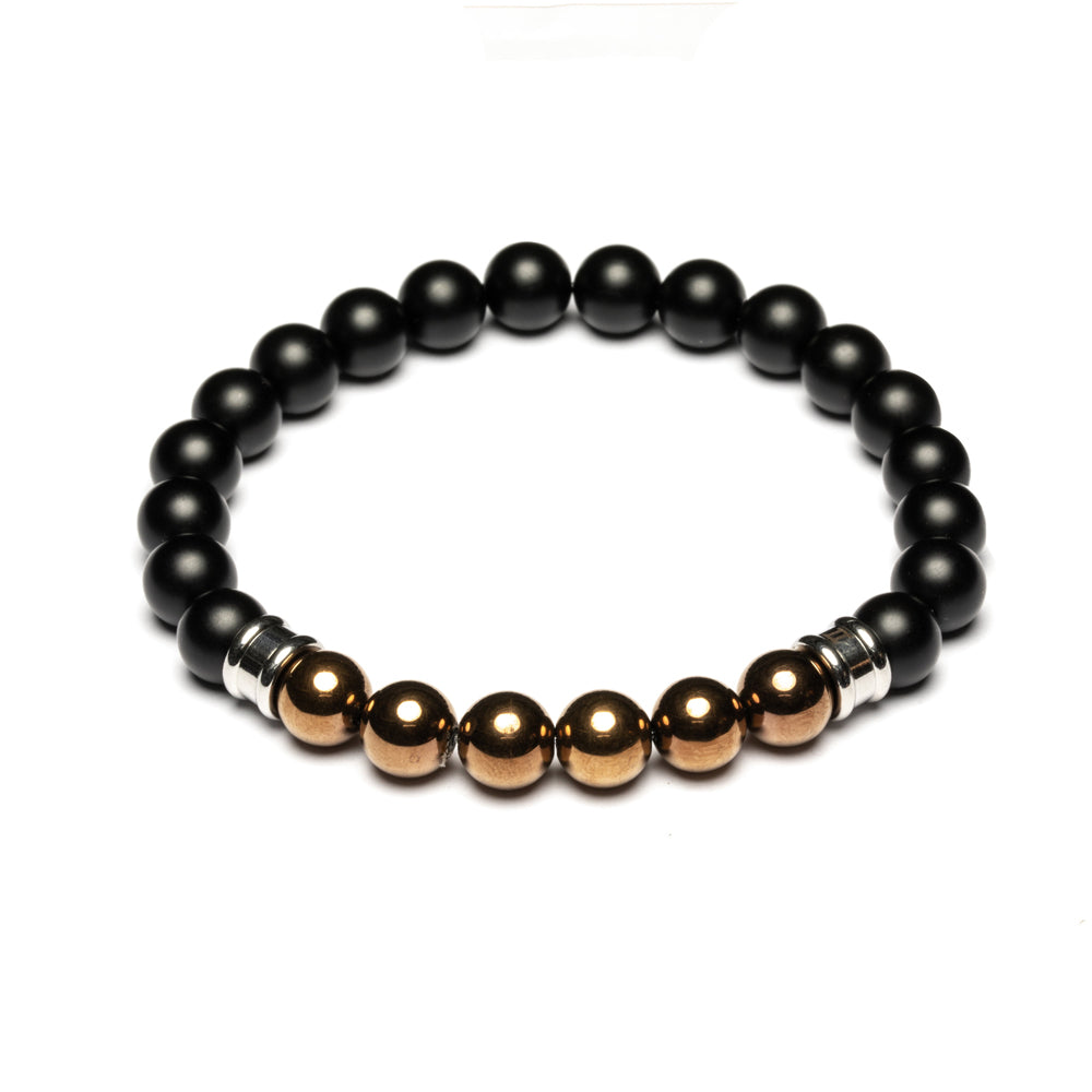 Melas Black/Copper Stones Bracelet