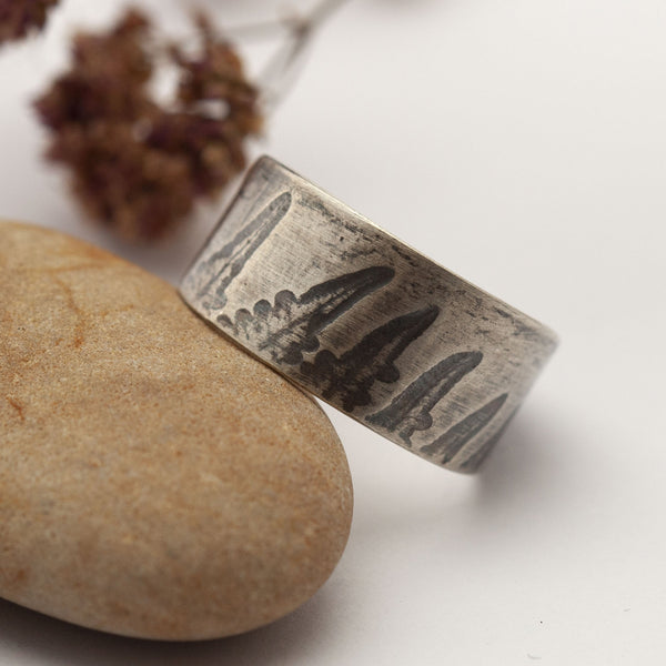 Fern Imprint Silver Ring