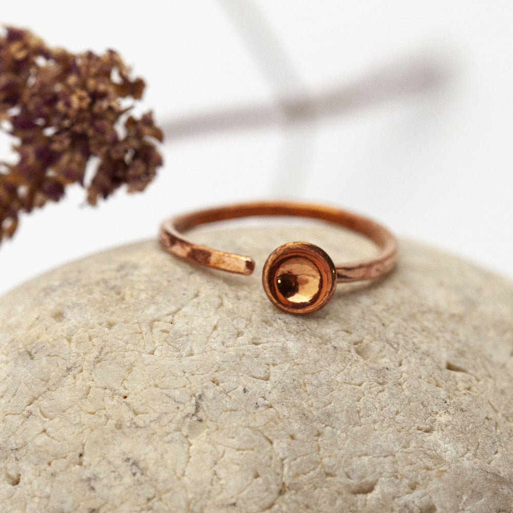 Disk Open Copper Ring