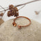 Disk & Ball Open Copper Ring
