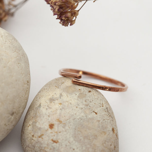 Thin Open Drop Copper Ring