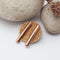 Bar Copper Earrings