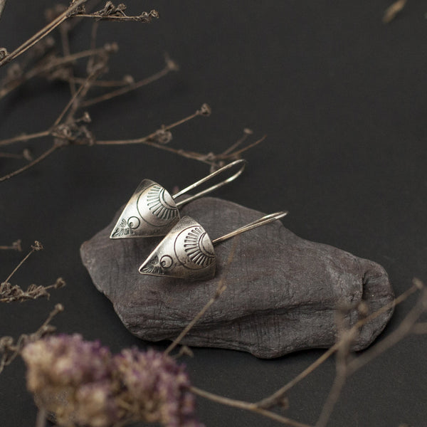 Etnic Silver Earrings