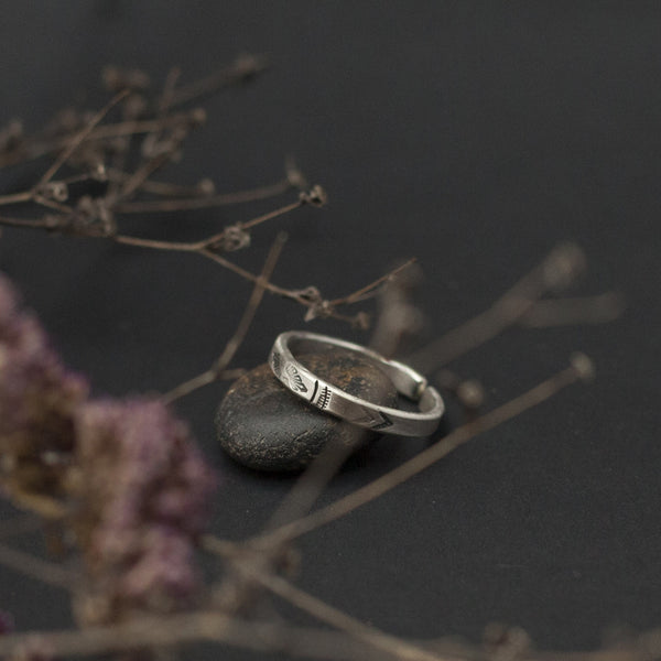Etnic Open Silver Ring