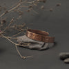 Large Hammered Copper Bracelet