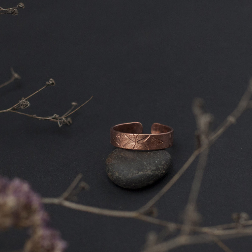 Etnic Open Copper Ring