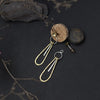 Drop Silver & Brass Earrings