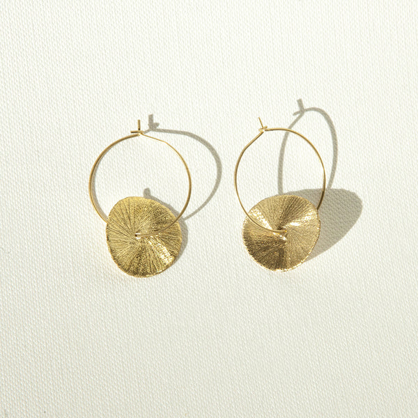 Disk Short Earrings