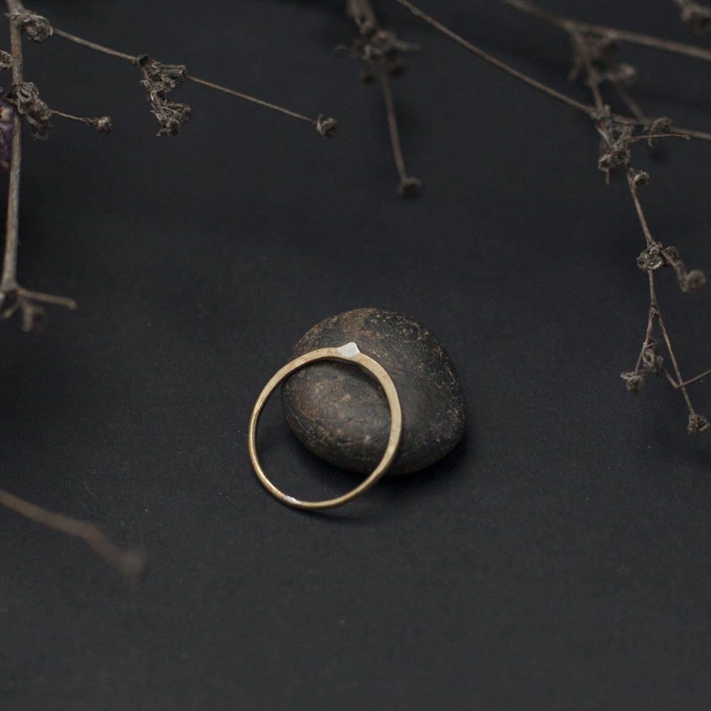 Arrow Plated Brass Ring