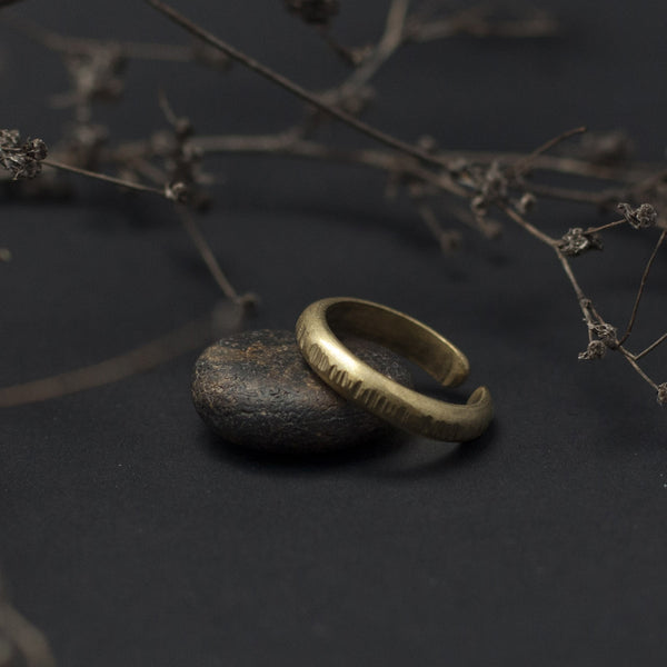 Textured Open Brass Ring
