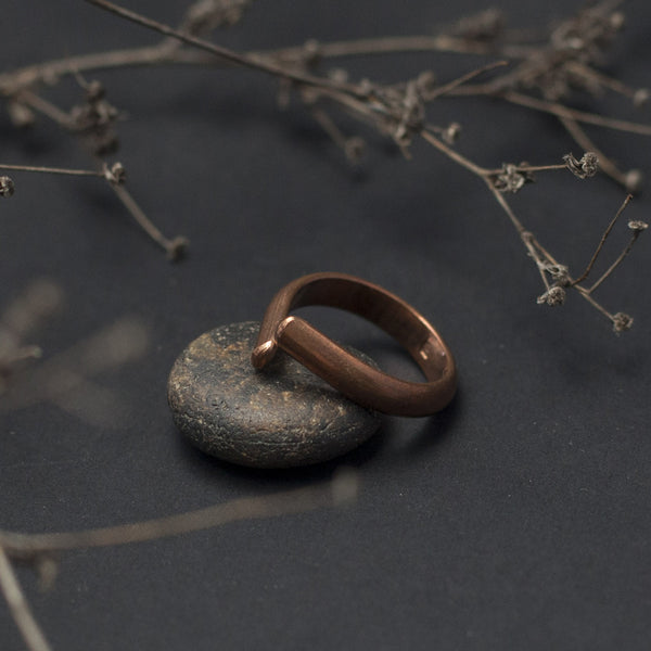 Drop Open Copper Ring