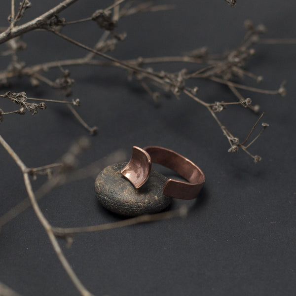 Losange Open Copper Ring