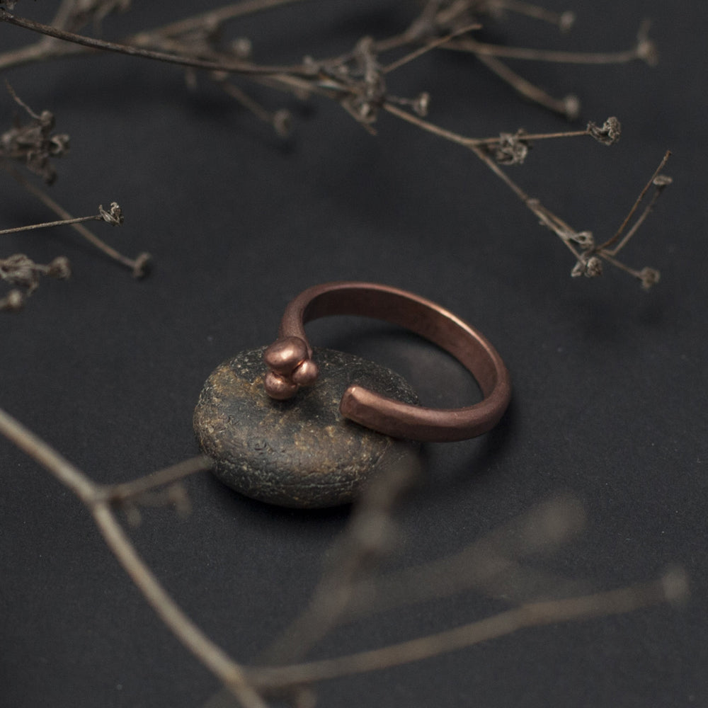 Ball Open Copper Ring