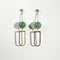 Big D Stone Long Earrings