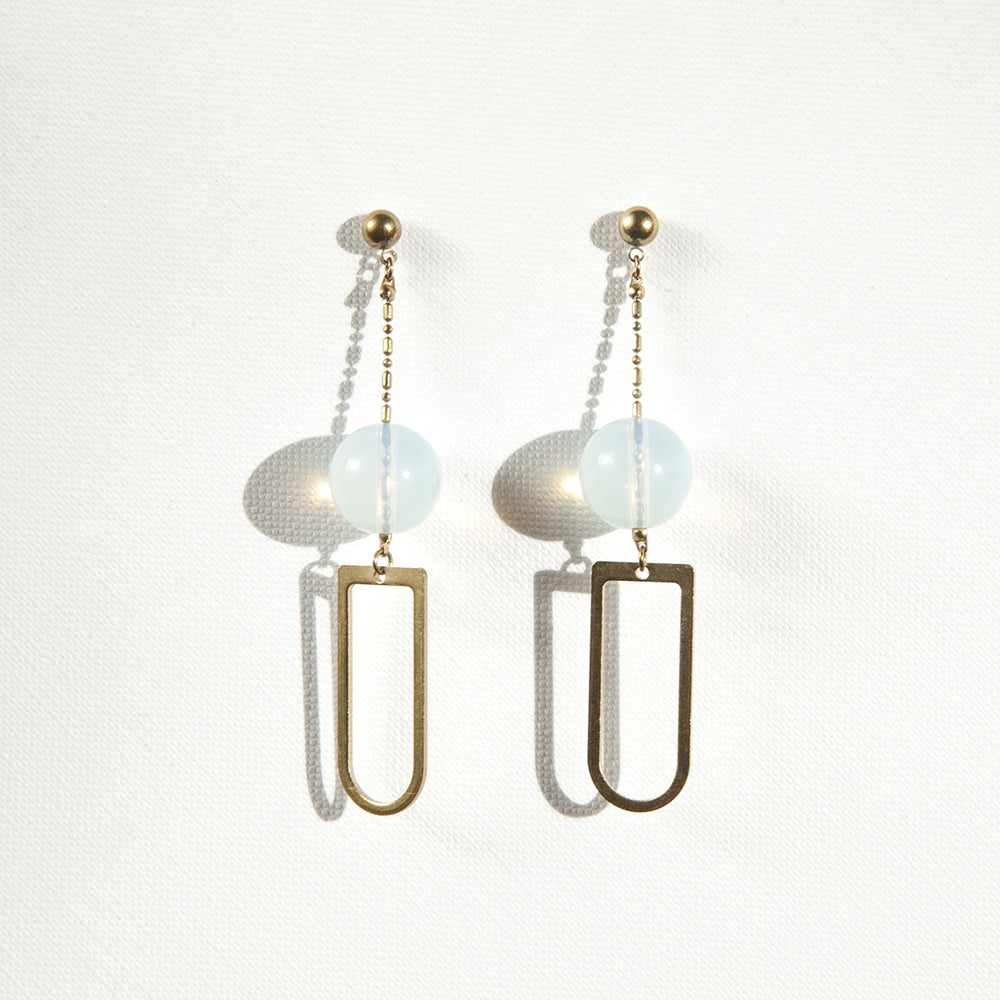 Big D Moonstone Long Earrings