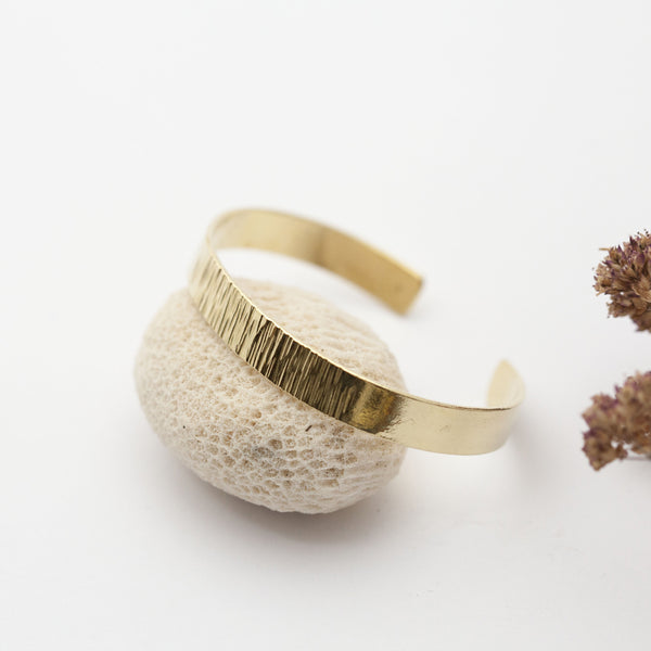 Textured Brass Bracelet