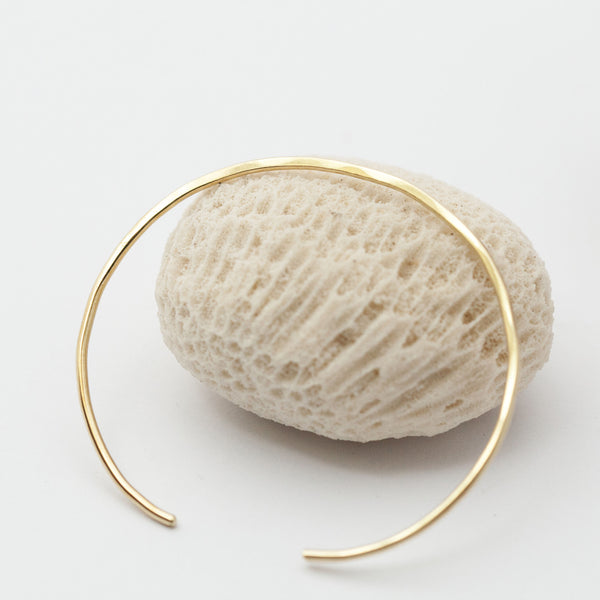 Thin Hammered & Flattened Brass Bracelet