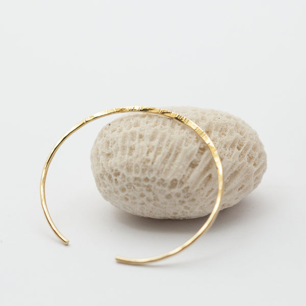 Thin Textured & Flattened Brass Bracelet