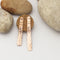 Asymmetric Etnic Bar Copper Earrings