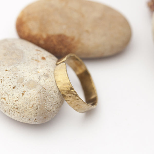 Open Hammered Brass Ring