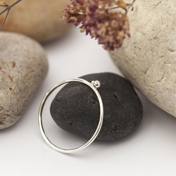 Tiny Ball Silver Ring