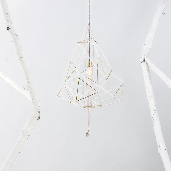 Nested Golden Cuboid Ceiling Lamp